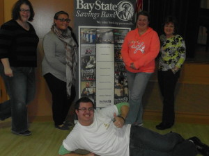 Our reigning Scrabble Champions from Bay State Savings Bank!